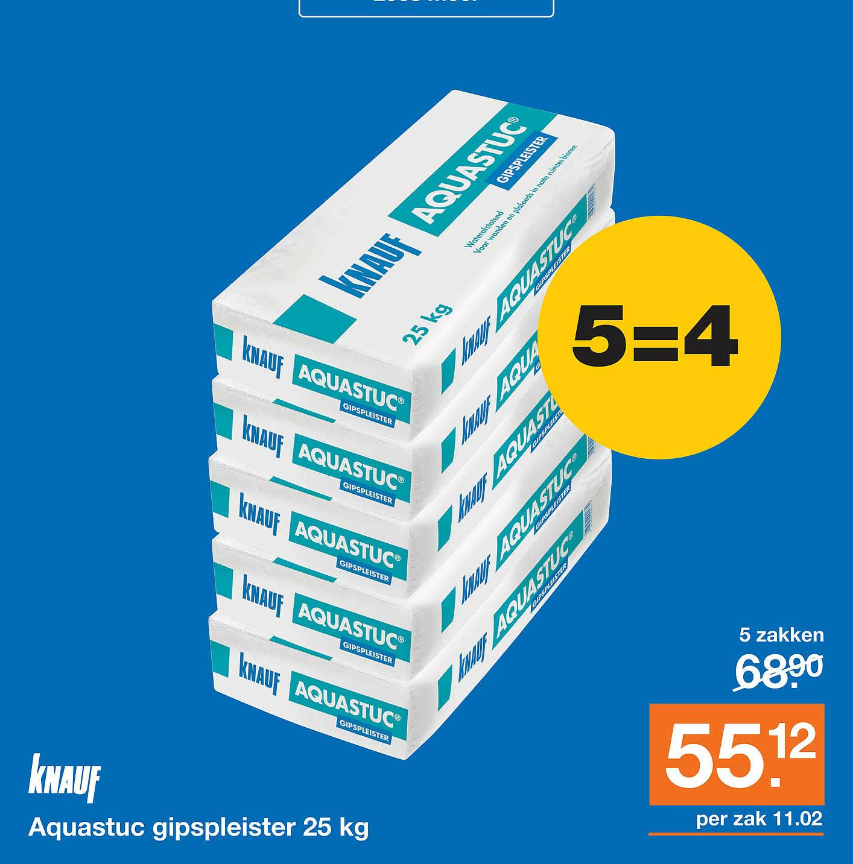 Bouwmaat Knauf Aquastuc Gipspleister 25 Kg