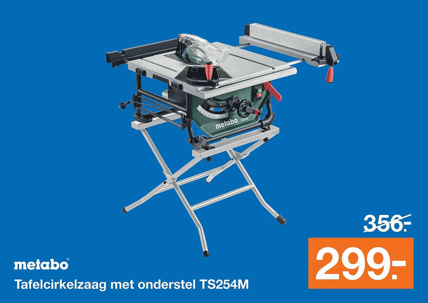 Bouwmaat Metabo Tafelcirkelzaag Met Onderstel TS254M