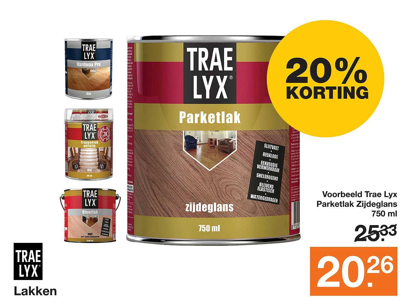 Bouwmaat Trae Lyx Lakken 20% Korting