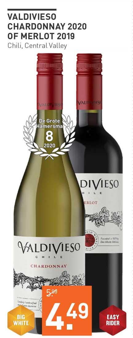 Gall & Gall Valdivieso Chardonnay 2020 Of Merlot 2019