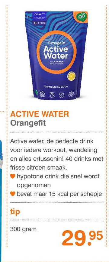Vitaminstore Active Water Orangefit