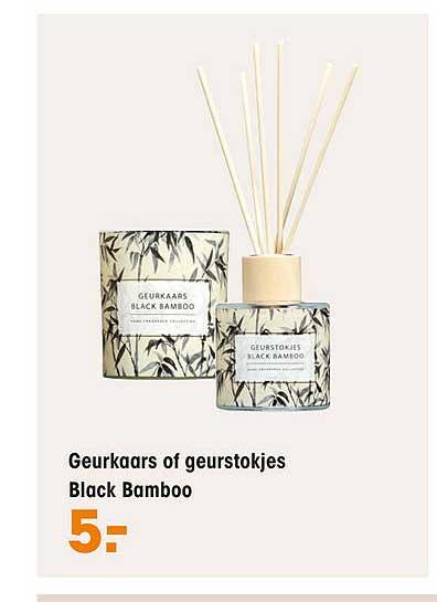Kwantum Geurkaars Of Geurstokjes Black Bamboo