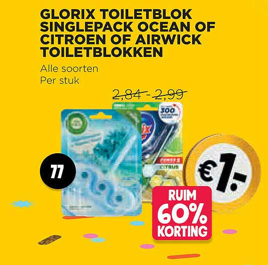 Jumbo Glorix Toiletblok Singlepack Ocean Of Citroen Of Airwick Toiletblokken