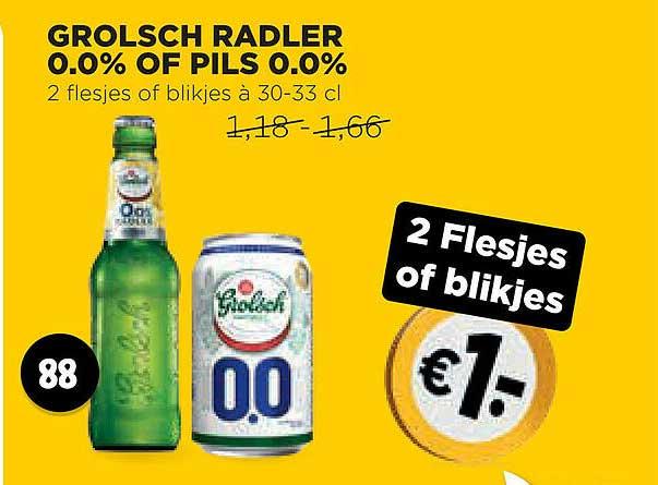 Jumbo Grolsch Radler 0.0% Of Pils 0.0%