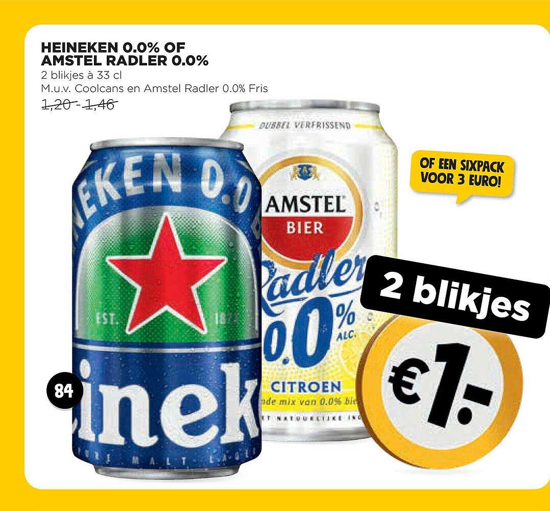 Jumbo Heineken 0.0% Of Amstel Radler 0.0%