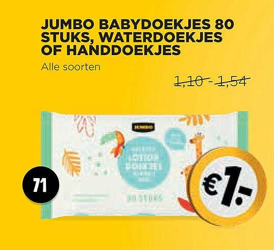 Jumbo Jumbo Babydoekjes 80 Stuks, Waterdoekjes Of Handdoekjes