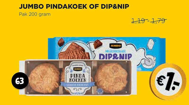 Jumbo Jumbo Pindakoek Of Dip&Nip