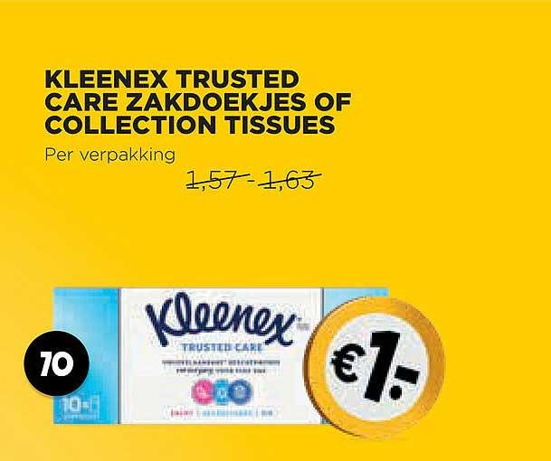Jumbo Kleenex Trusted Care Zakdoekjes Of Collection Tissues