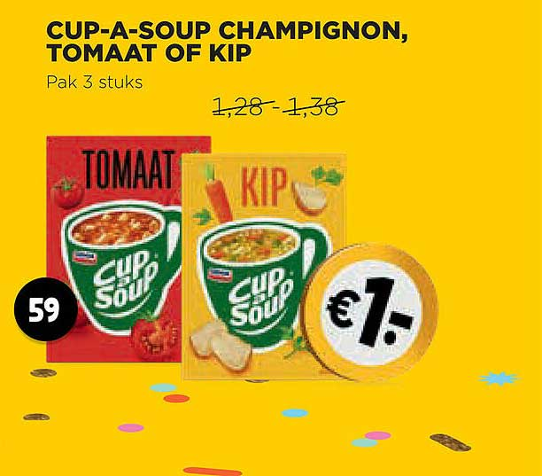 Jumbo Knorr Cup-A-Soup Champignon, Tomaat Of Kip