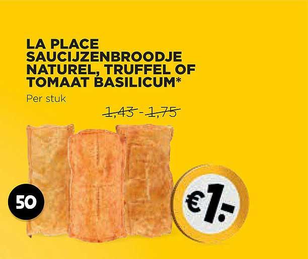 Jumbo La Place Saucijzenbroodje Naturel, Truffel Of Tomaat Basilicum