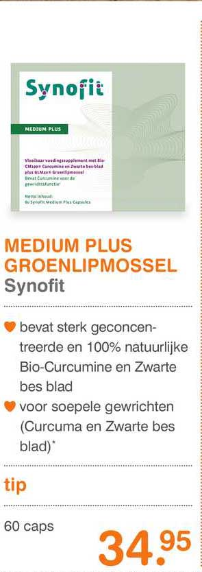 Vitaminstore Medium Plus Groenlipmossel Synofit
