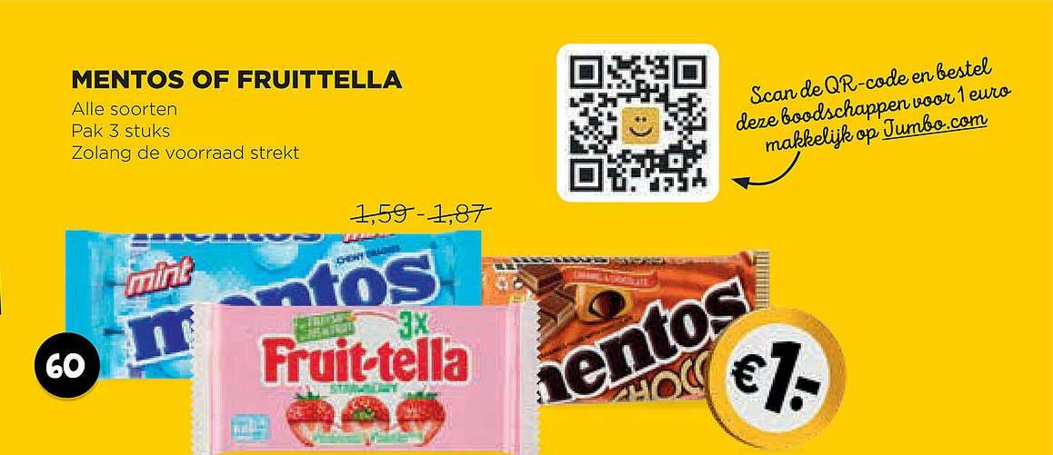 Jumbo Mentos Of Fruittella