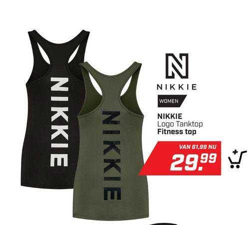 DAKA Nikkie Logo Tanktop Fitness Top
