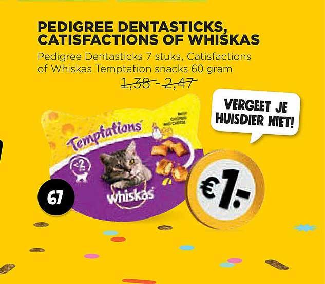 Jumbo Pedigree Dentasticks, Catisfactions Of Whiskas