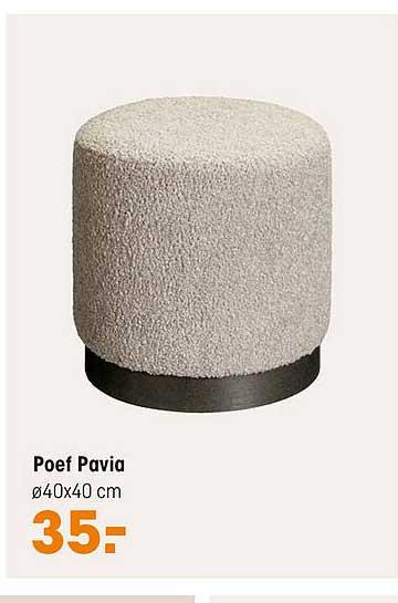 Kwantum Poef Pavia
