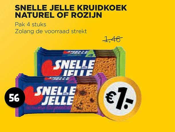 Jumbo Snelle Jelle Kruidkoek Naturel Of Rozijn