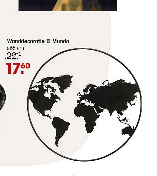 Kwantum Wanddecoratie El Mundo
