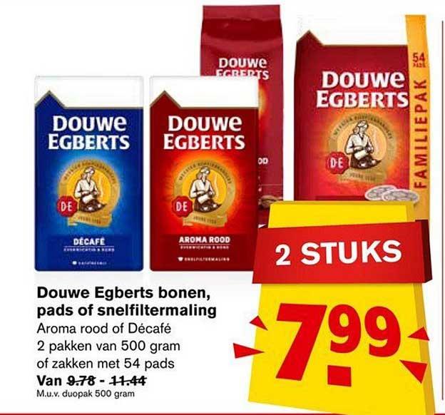 Hoogvliet Douwe Egberts Bonen, Pads Of Snelfiltermaling