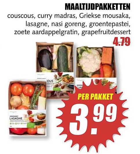 MCD Supermarkt Maaltijdpakketten