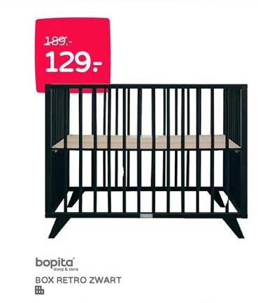 Prénatal Bopita Box Retro Zwart