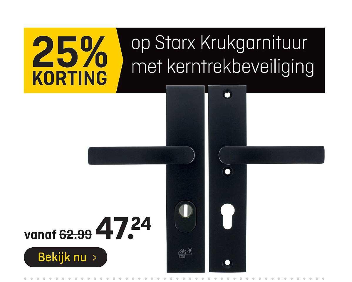 Hubo Op Starx Krukgarnituur Met Kerntrekbeveiliging 25% Korting