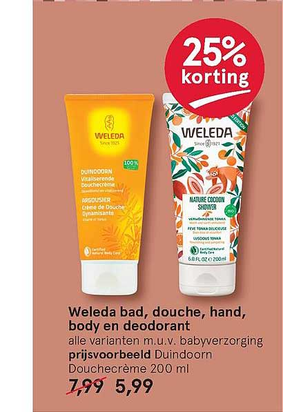 Etos Weleda Bad, Douche, Hand, Body En Deodorant 25% Korting