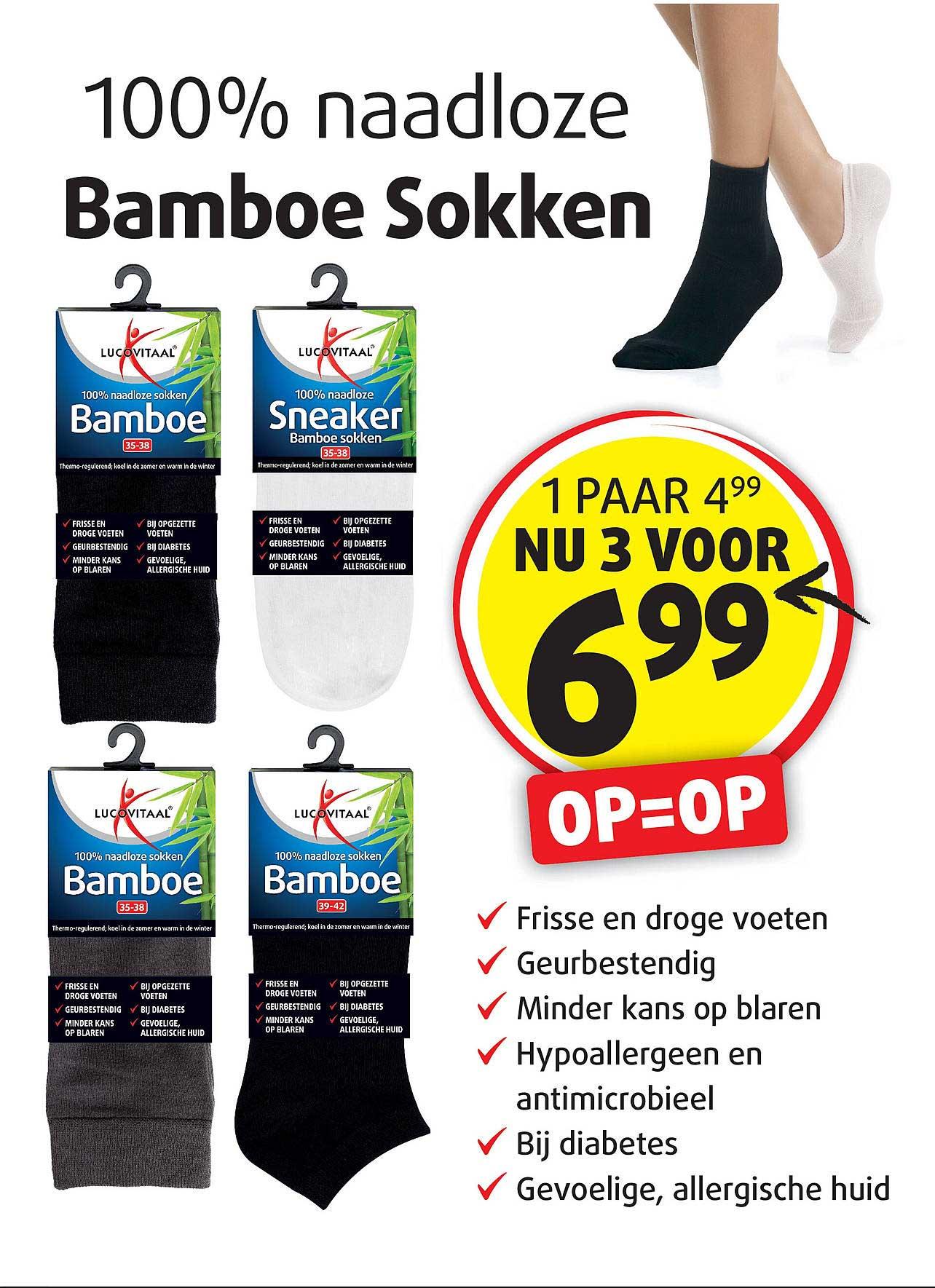 Lucovitaal Bamboe Sokken