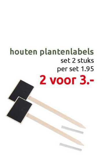 DekaTuin Houten Plantenlabels