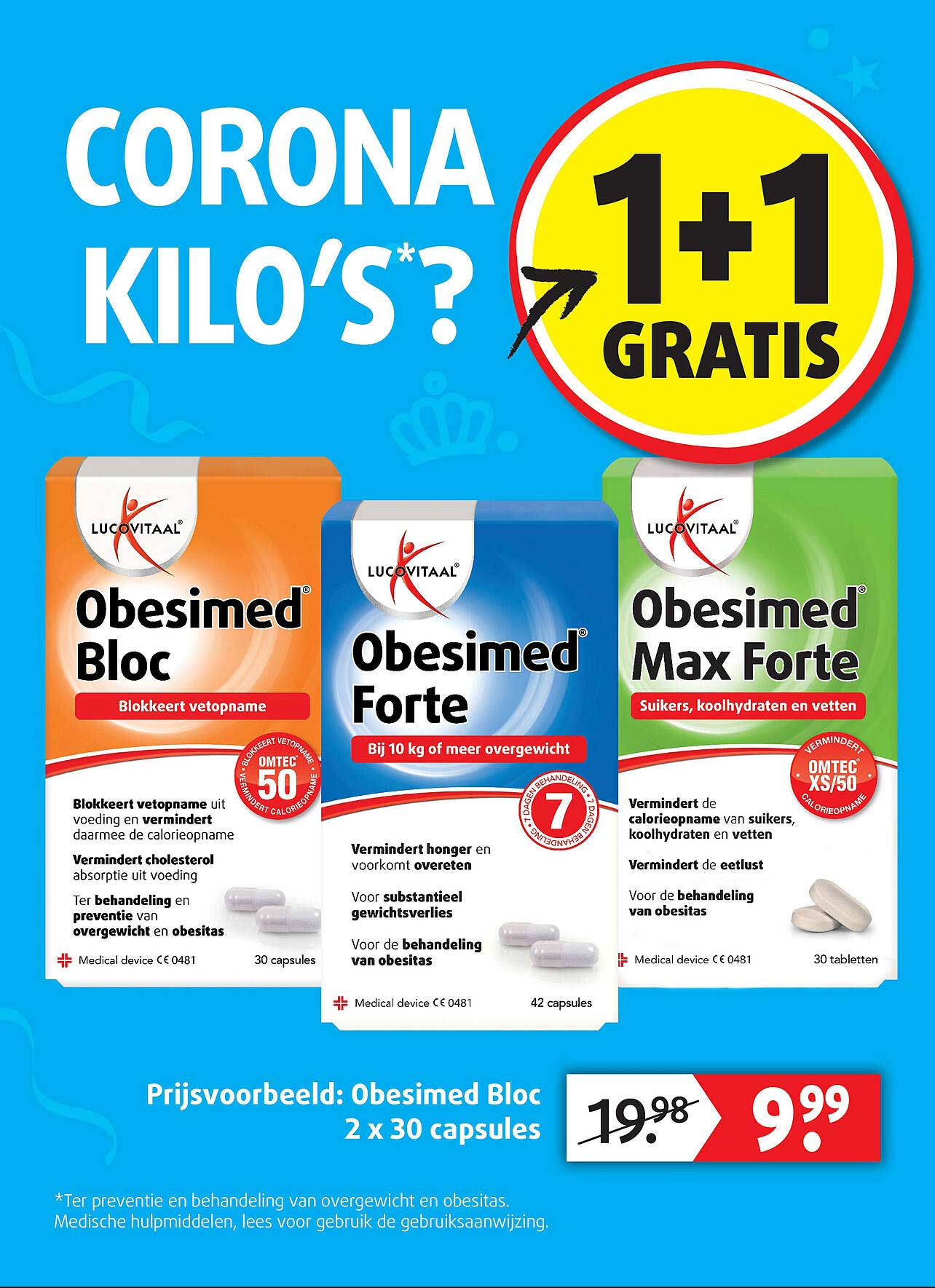 Lucovitaal Lucovitaal Obesimed Bloc, Forte Of Max Forte 1+1 Gratis