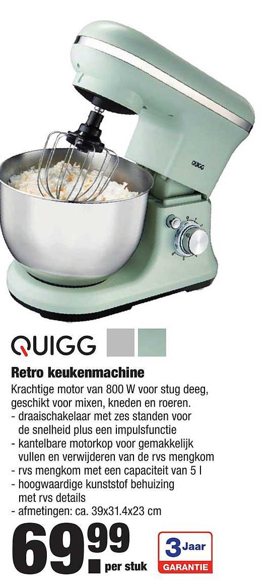 ALDI Quigg Retro Keukenmachine
