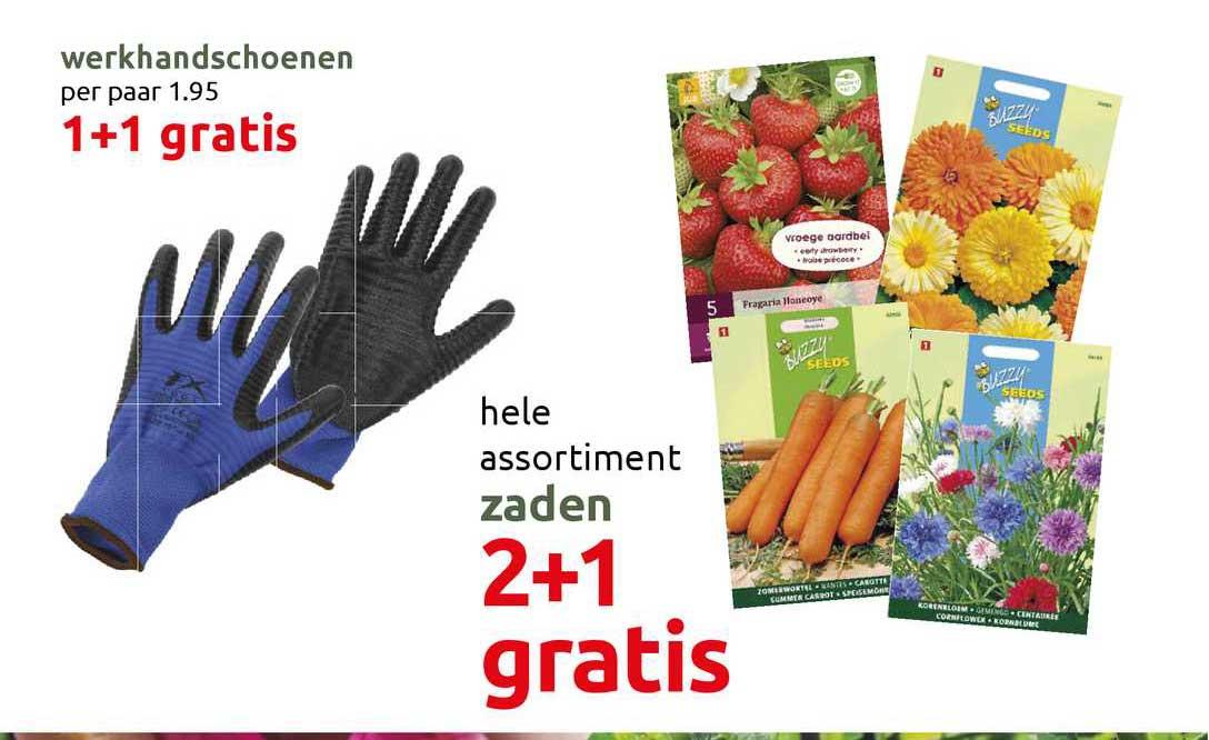 DekaTuin Werkhandschoenen 1+1 Gratis Of Zaden 2+1 Gratis