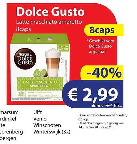 Die Grenze Dolce Gusto Latte Macchiato Amaretto