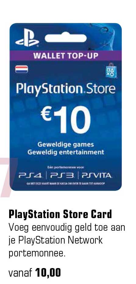 Primera Playstation Store Card
