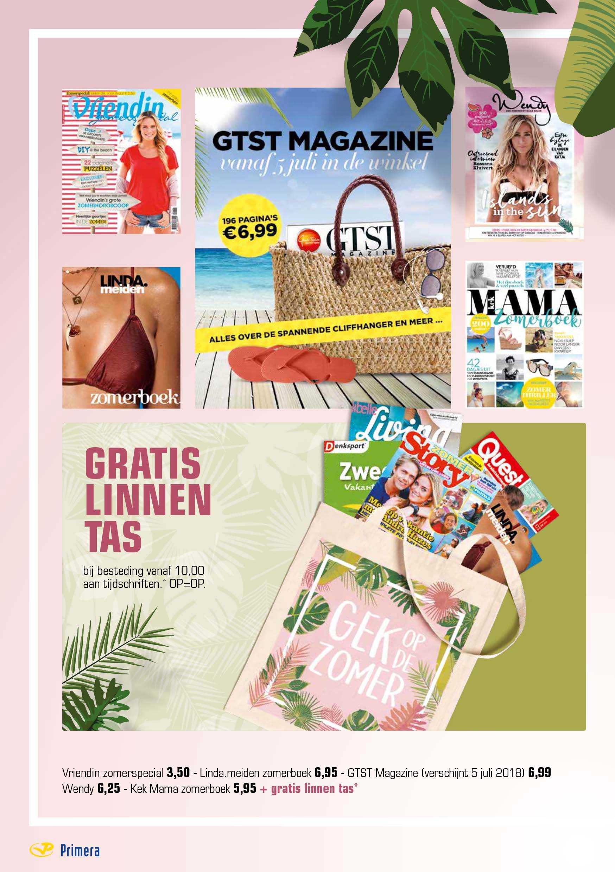 Primera Vriendin Zomerspecial, Linda Meiden Zomerboek, GTST Magazine, Wendy En Kek Mama Zomerboek