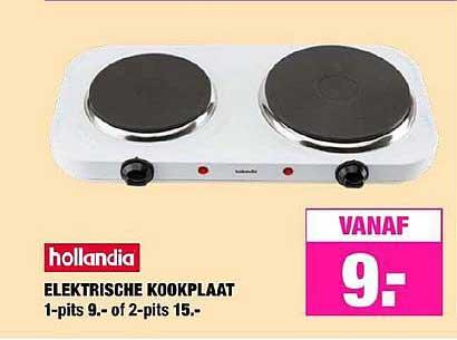 Big Bazar Hollandia Elektrische Kookplaat