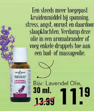 De Online Drogist Jacob Hooy Lavendel Olie