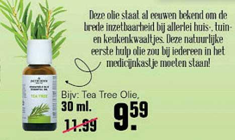 De Online Drogist Jacob Hooy Tea Tree Olie