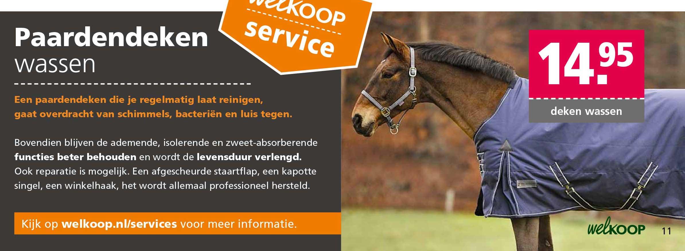 Welkoop Paardendeken Wassen: €14,95