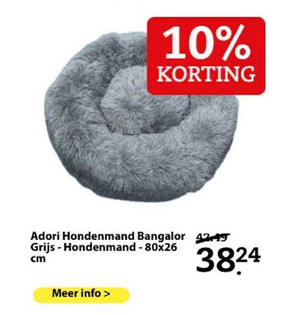 Boerenbond Adori Hondenmand Bangalor Grijs - Hondenmand - 80x26 Cm 10% Korting