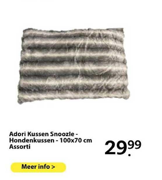 Boerenbond Adori Kussen Snoozle - Hondenkussen - 100x70 Cm Assorti
