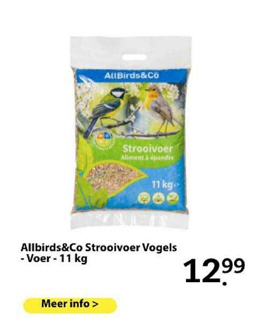 Boerenbond Allbirds&Co Strooivoer Vogels - Voer - 11 Kg