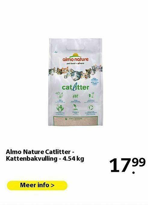Pets Place Almo Nature Catlitter - Kattenbakvulling - 4.54 Kg