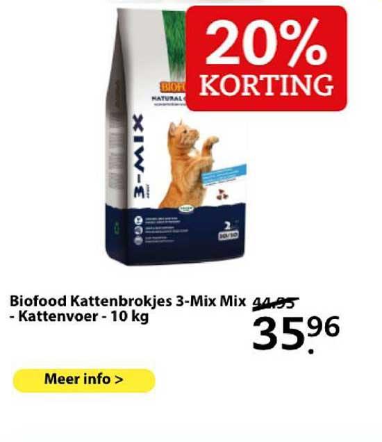 Boerenbond Biofood Kattenbrokjes 3-Mix Mix - Kattenvoer - 10 Kg 20% Korting