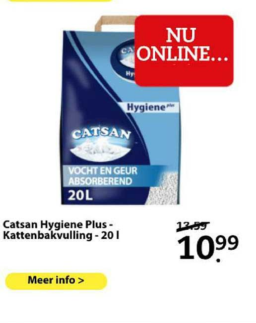 Boerenbond Catsan Hygiene Plus - Kattenbakvulling - 20 L