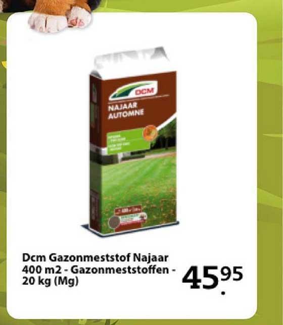 Boerenbond Dcm Gazonmeststof Najaar 400 M2 - Gazonmeststoffen - 20 Kg (Mg)