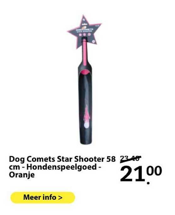 Boerenbond Dog Comets Star Shooter 58 Cm - Hondenspeelgoed - Oranje