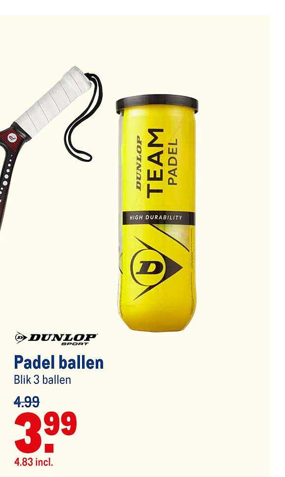 Makro Dunlop Padel Ballen