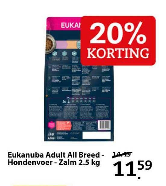 Boerenbond Eukanuba Adult All Breed - Hondervoer - Zalm 2.5 Kg 20% Korting
