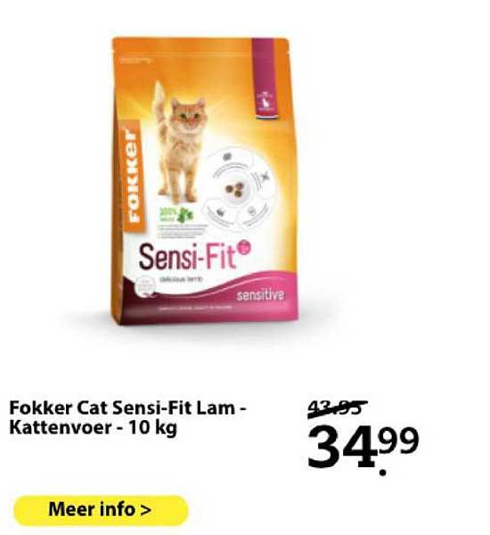 Boerenbond Fokker Cat Sensi-Fit Lam - Kattenvoer - 10 Kg