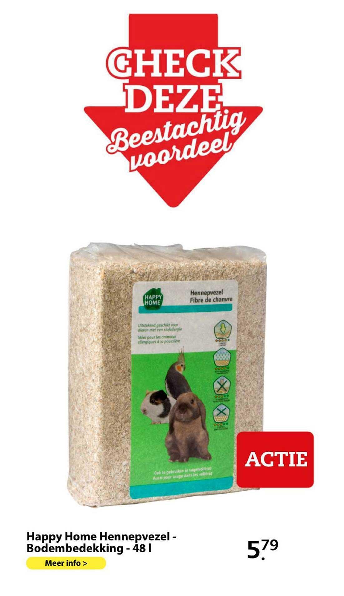 Boerenbond Happy Home Hennepvezel - Bodembedekking - 48 L